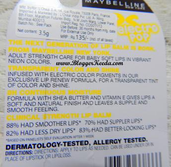 Maybelline Baby Lips Electro Pop review of Fierce N Tangy - 03