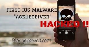 First iOS Malware AceDeceiver 1