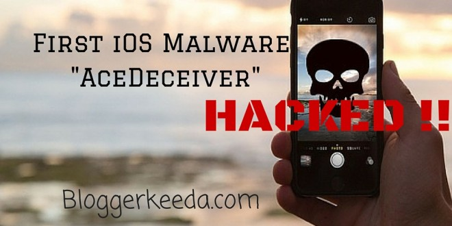 First iOS Malware AceDeceiver 1